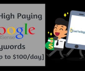 high paying google adsense keywords earn online