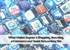 What makes Sagoon a shopping, browsing, e-commerce and social networking site