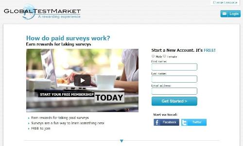 Global Test Market - online surveys that pay cash
