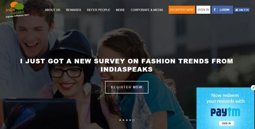India Speaks - free paid surveys