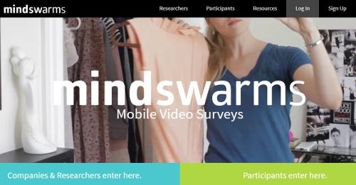 Mind Swarms - online surveys that pay cash
