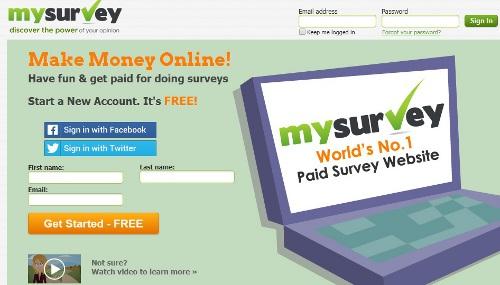 My Survey - online surveys that pay cash