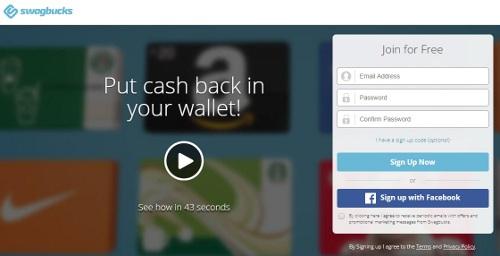 Swagbucks - online surveys that pay cash