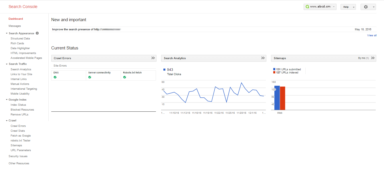 google webmaster tool features
