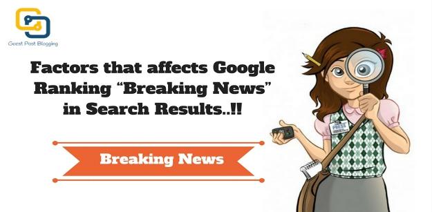 Google Ranking Breaking News