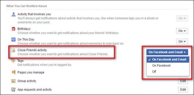 Get Customized Facebook Activity Summary in Your Email