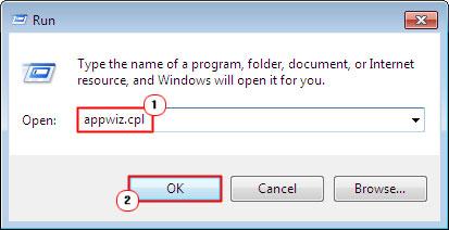 Run Command appwiz.cpl