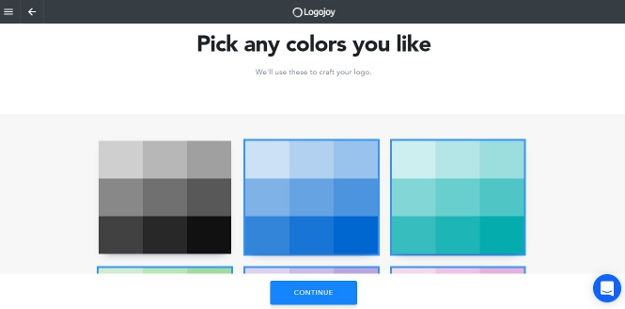 Pick any colors for your logo
