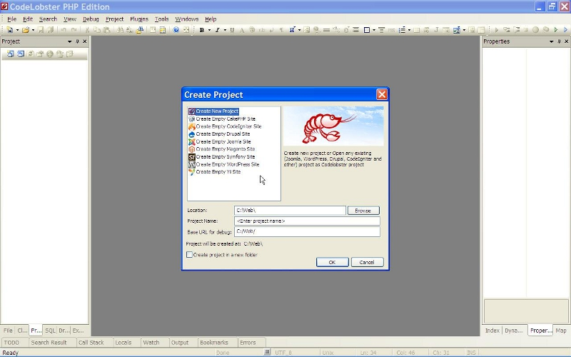 codelobster-create-project
