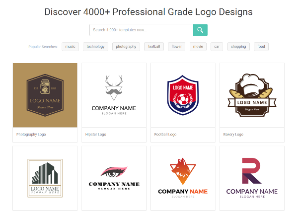 First, Start with a Logo Template