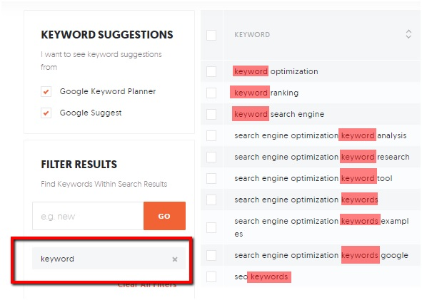 Refining Keyword Research