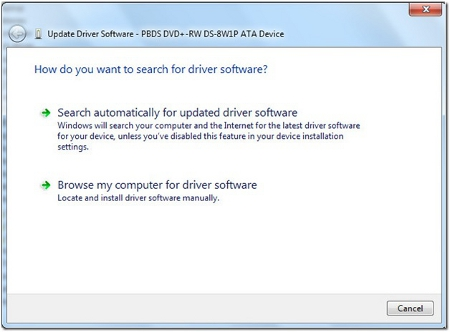 Choose to update drivers online