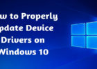 How to Properly Update Device Drivers on Windows 10
