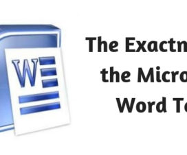 The Exactness of the Microsoft Word Test