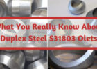 What You Really Know About Duplex Steel S31803 Olets