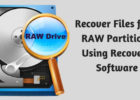 Recover Files from RAW Partitions Using Recovery Software