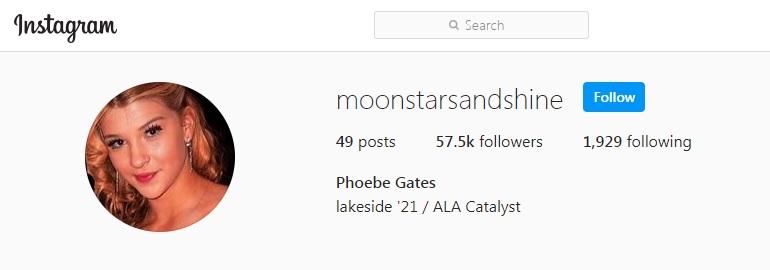 phoebe adele gates instagram